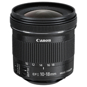 CANON EF-S 10-18mm f/4.5-5.6 IS STM+EW-73C+Lens Cloth