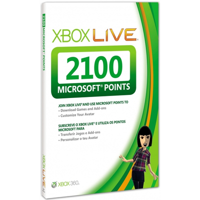 MICROSOFT MS X360 Live 2100pt Card  Default image