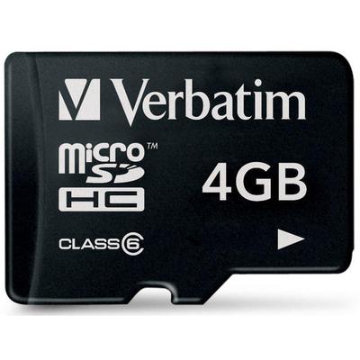 VERBATIM Micro SDHC 4 GB - Classe 6  Default image