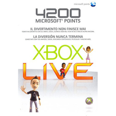 MICROSOFT Xbox LIVE 4200 Points Card (Xbox 360)  Default image