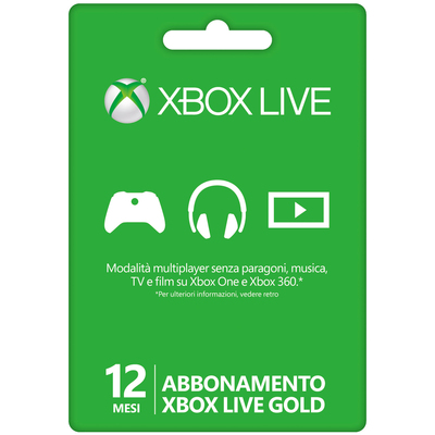 MICROSOFT MS X360 Live Gold Card 12 Mesi  Default image