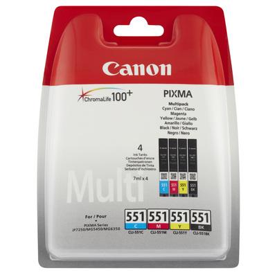 CANON CLI-551 BK/C/M/Y  Default image