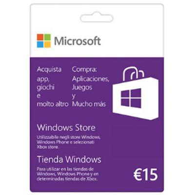 MICROSOFT Gift Card 15 Euro  Default image
