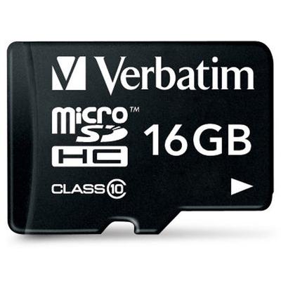 VERBATIM 44082 - Micro SDHC 16 GB Classe 10 con adattatore  Default image