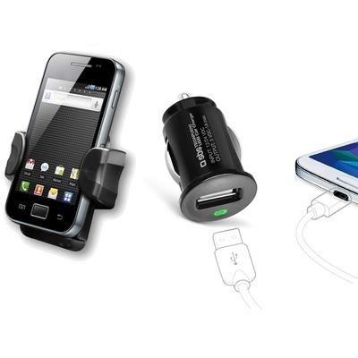 SBS ACCESSORI TELEFONICI Kit caricatore USB da auto con supporto universale  Default image