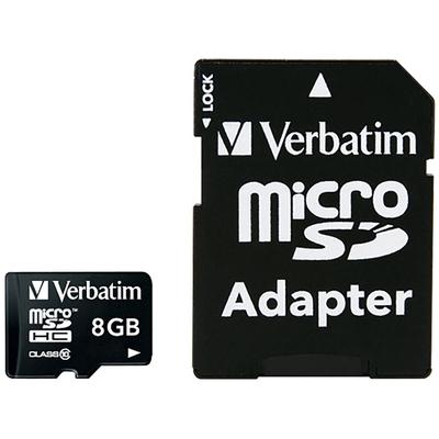 VERBATIM 44081 - Micro SDHC 8 GB Classe 10 con adattatore  Default image