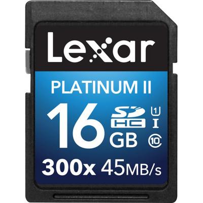LEXAR 16GB Platinum II 300x SDHC UHS-I  Default image