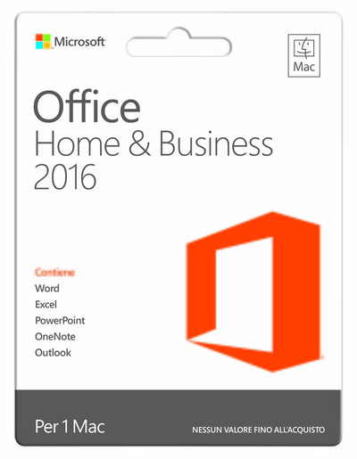 MICROSOFT OFF MAC HOME BUSINESS 2016 POSA  Default image
