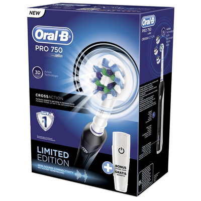 ORAL-B PRO750 BLACK + TRAVEL CASE  Default image