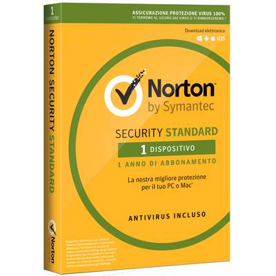 SYMANTEC Norton Security Standard3.0 - 1 Utente  Default image
