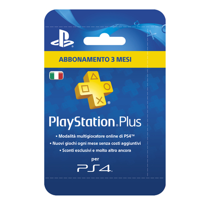 SONY ENTERTAINMENT 1 / 1 Sony PSN PS Plus Hanging Card 3 Mesi Sony P  Default image