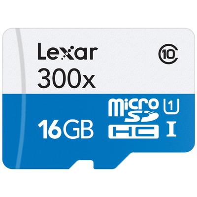 LEXAR HIGH-PERFORMANCE 300X MICROSDHC UHS-I 16GB  Default image