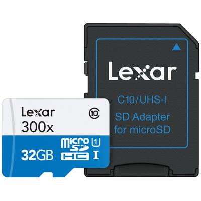 LEXAR HIGH-PERFORMANCE 300X MICROSDHC UHS-I 32GB  Default image