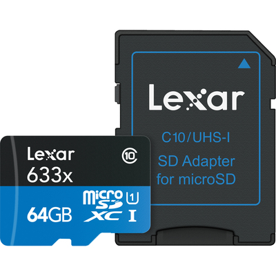 LEXAR High-Performance 633x microSDHC/microSDXC UHS-I 64  Default image