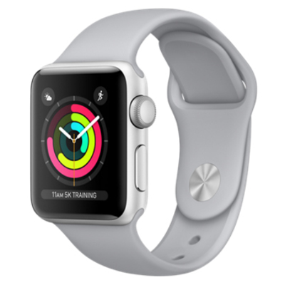 APPLE Watch Series 3 GPS, 38mm Silver Aluminium Ca  Default image