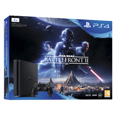 SONY ENTERTAINMENT PS4 1TB + StarWars Battlefront II  Default image
