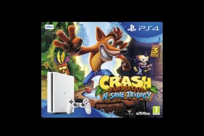 SONY ENTERTAINMENT PS4 500GB + CRASH  Default image