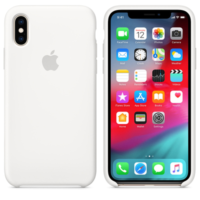APPLE iPhone XS Silicone Case - White  Default image
