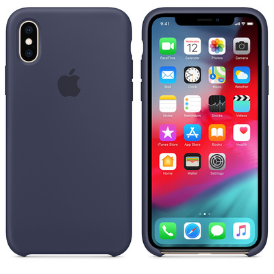 APPLE iPhone XS Silicone Case - Midnight Blue  Default image