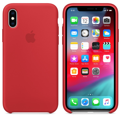 APPLE iPhone XS Silicone Case - (PRODUCT)RED  Default image