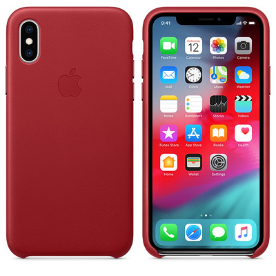 APPLE iPhone XS Leather Case - (PRODUCT)RED  Default image