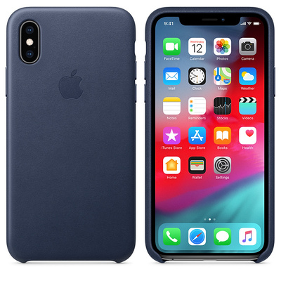 APPLE iPhone XS Leather Case - Midnight Blue  Default image