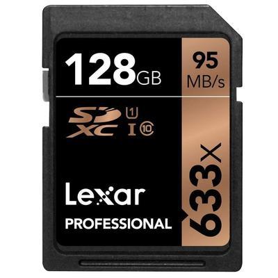 LEXAR 128GB 633X PRO SDXC U1 CL.10 UHS-1  Default image