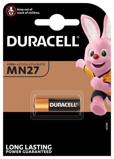 DURACELL MN27 BATTERIA ALCALINA 12V X1 A27 27A V27A 8LR732  Default image