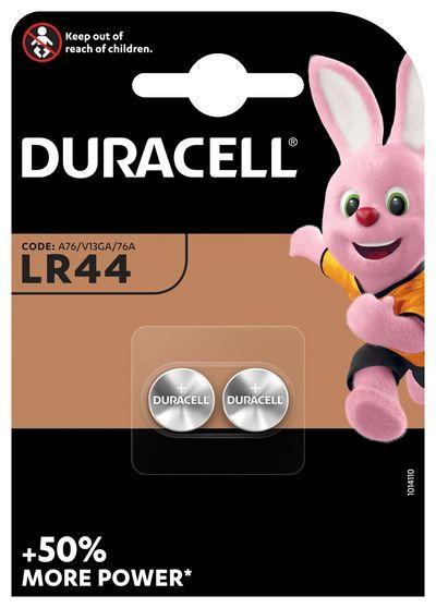DURACELL LR44 BATTERIA BOTTONE ALKA 1.5V X2 76A A76 V13GA  Default image