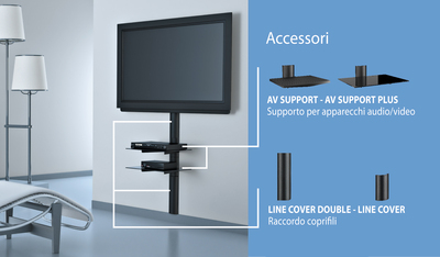 Accessori video meliconi stile line cover double - Porta tv meliconi ...