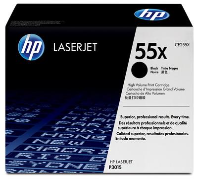 HP CE255X - Toner  55X LaserJet, nero  Default image