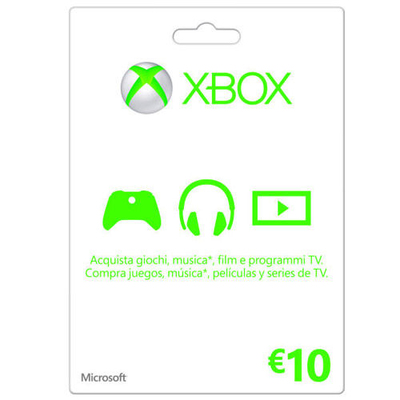 MICROSOFT Xbox Live Card 10 Euro  Default image