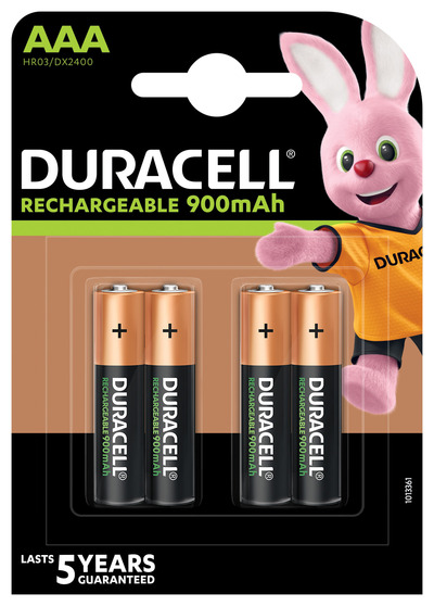 DURACELL RICARICABILI AAA 900MAH PRERICARICATE MINISTILO X4  Default image