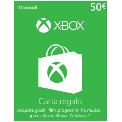 MICROSOFT XBOX LIVE CARD 50 EURO DIGITAL DELIVERY  Default image