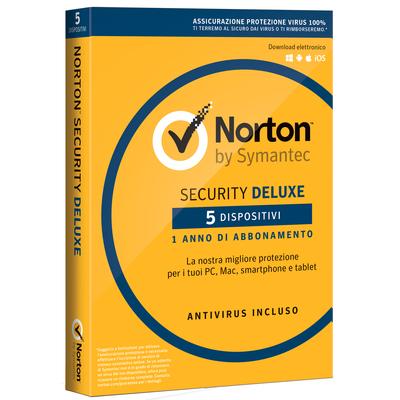 SYMANTEC Norton Security Deluxe - 5 Dispositivi  Default image
