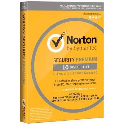 SYMANTEC Norton Security Premium - 10 Dispositivi  Default image