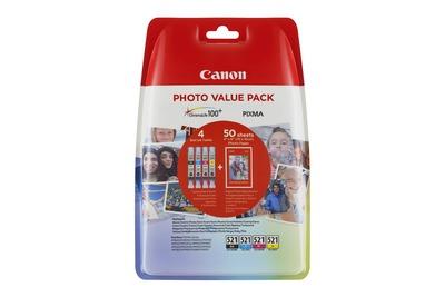 CANON CLI-521C/M/Y/BK+50FPP-201  Default image
