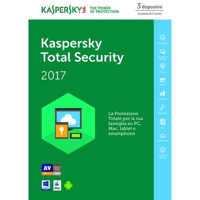 KASPERSKY Total Security 2017 - 3 user  Default image
