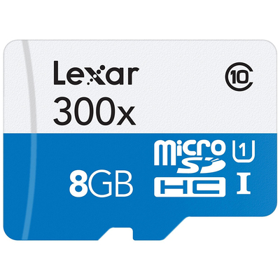 LEXAR HIGH-PERFORMANCE 300X MICROSDHC UHS-I 8GB  Default image