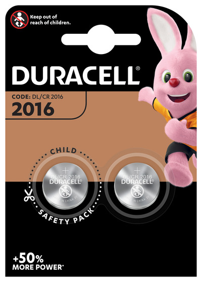 DURACELL 2016 BATTERIA BOTTONE LITIO 3V X2 DL2016 CR2016  Default image