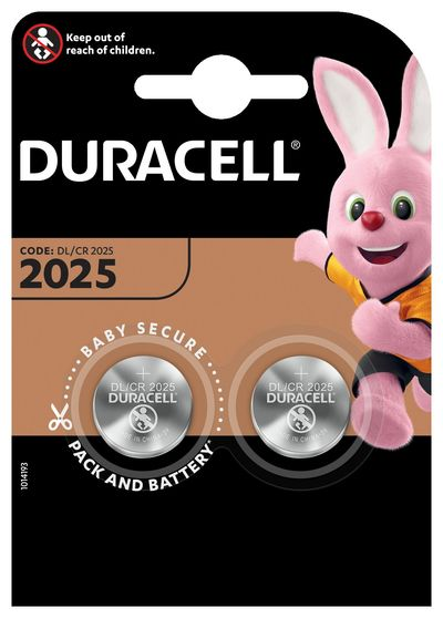 DURACELL 2025 BATTERIA BOTTONE LITIO 3V X2 DL2025 CR2025  Default image