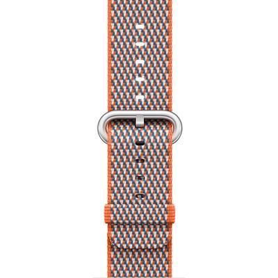 APPLE 38mm Spicy Orange Check Woven Nylon  Default image