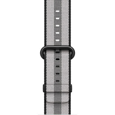 APPLE 38mm Black Stripe Woven Nylon  Default image
