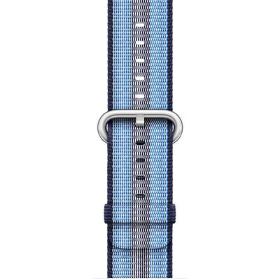 APPLE 38mm Midnight Blue Stripe Woven Nylon  Default image