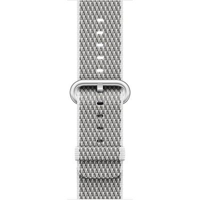 APPLE 42mm White Check Woven Nylon  Default image