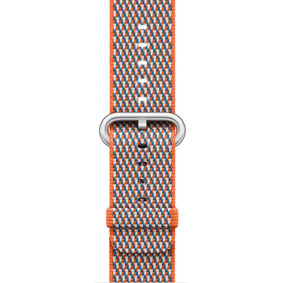 APPLE 42mm Spicy Orange Check Woven Nylon  Default image