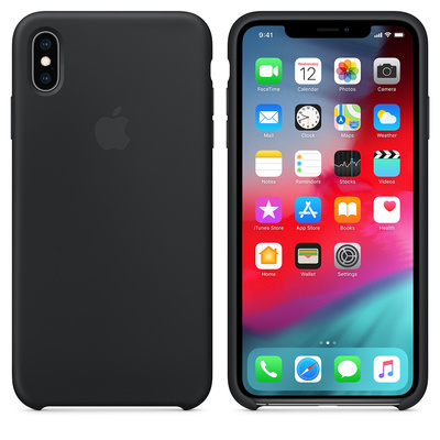 APPLE iPhone XS Max Silicone Case - Black  Default image