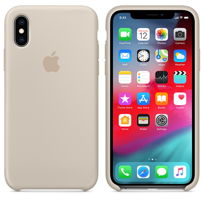 APPLE iPhone XS Max Silicone Case - Stone  Default image