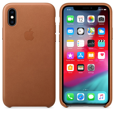APPLE iPhone XS Leather Case - Saddle Brown  Default image