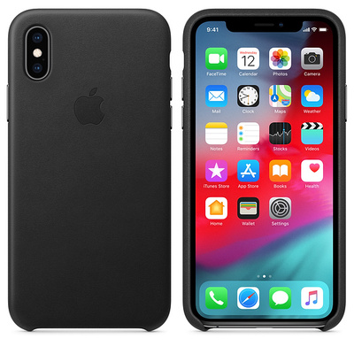 APPLE iPhone XS Max Leather Case - Black  Default image